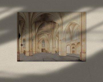 Rhenen, Inneres der Kirche von Cunera, Pieter Jansz. Saenredam - 1655