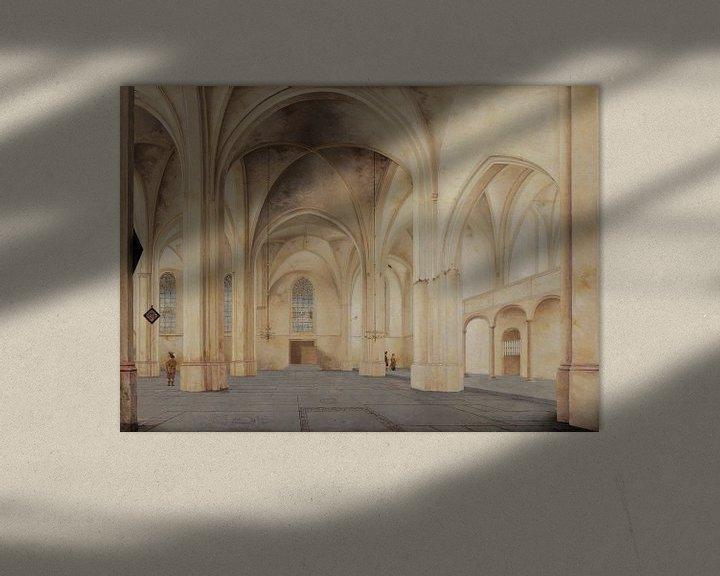Beispiel: Rhenen, Inneres der Kirche von Cunera, Pieter Jansz. Saenredam - 1655 von Atelier Liesjes