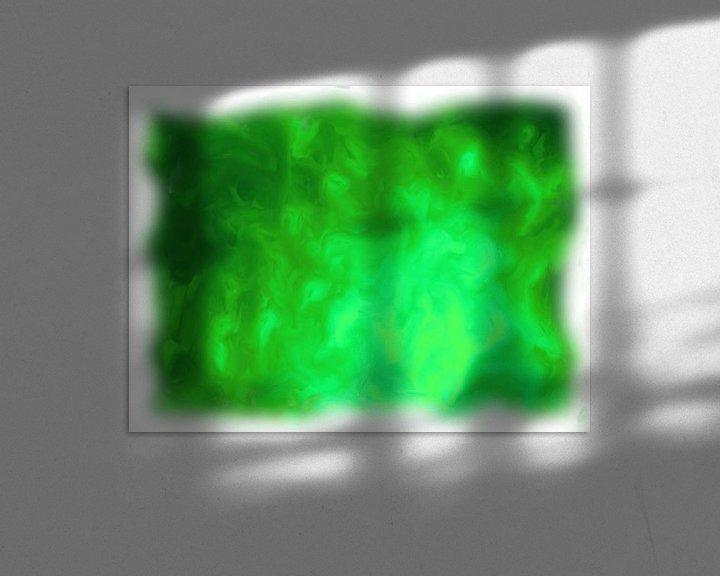 Beispiel: Abstrakt grün von Maurice Dawson
