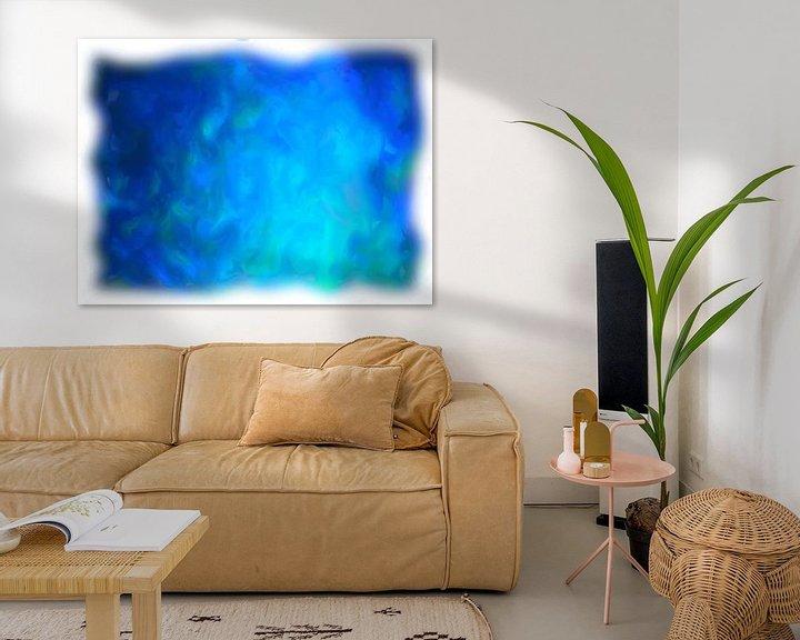 Beispiel: Abstrakt blau von Maurice Dawson