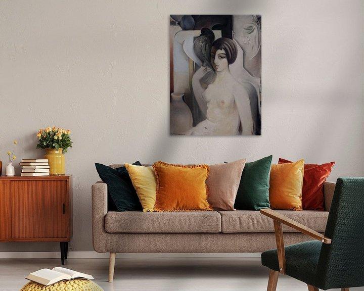 Beispiel: Frau mit einer Taube, Sarkis KATCHADOURIAN - 1928-29 von Atelier Liesjes