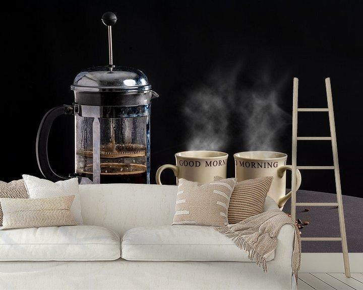 Sfeerimpressie behang: Koffietijd van Ton de Koning