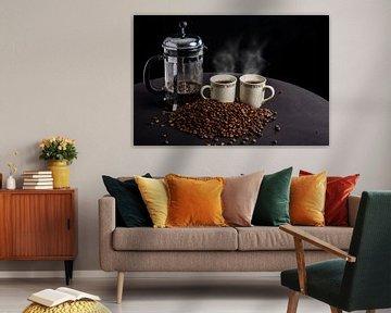 Dampende koffie van Ton de Koning