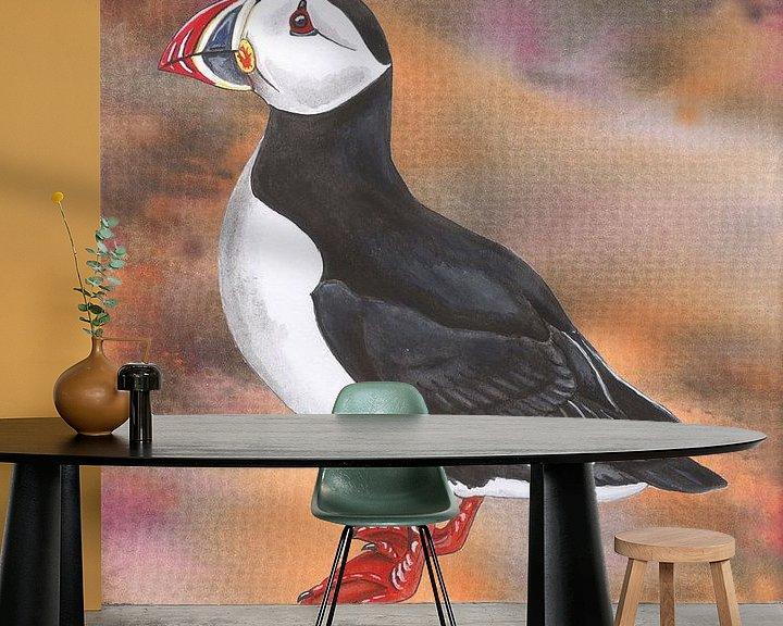 Beispiel fototapete: Papageientaucher von Jasper de Ruiter