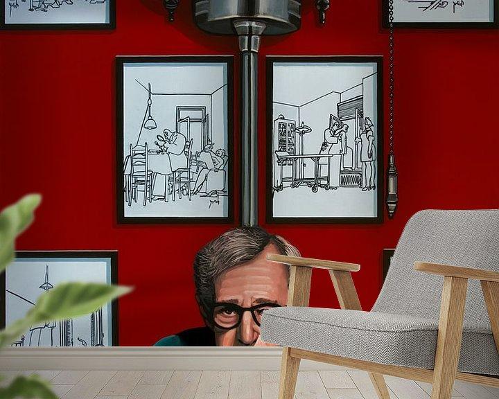 Beispiel fototapete: Woody Allen für die Yrrah Malerei von Paul Meijering