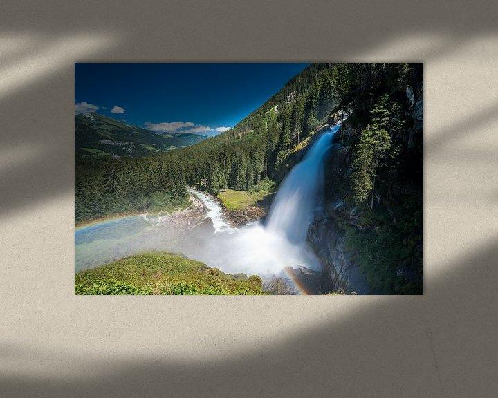 Sfeerimpressie: Krimmler watervallen van Peter Deschepper