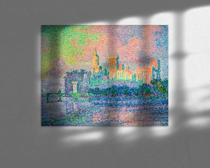 Beispiel: Der Päpstliche Palast, Avignon, Paul Signac