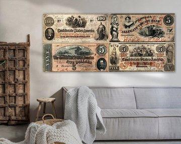 Alte amerikanische Dollarnoten von Martin Bergsma