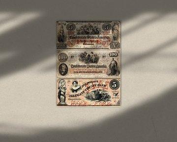 Vieux billets en dollars américains sur Martin Bergsma