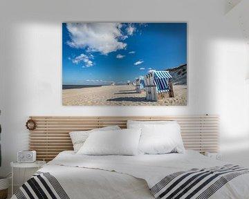 Strandkörbe am Weststrand von List, Sylt von Christian Müringer