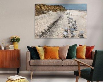 Chaises de plage à la Rote Kliff de Kampen, Sylt sur Christian Müringer