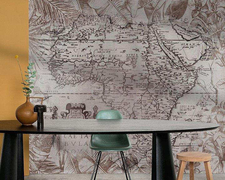Sfeerimpressie behang: Vintage Afrika Kaart van Andrea Haase
