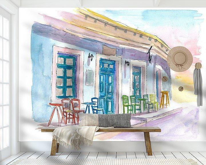 Beispiel fototapete: Restaurant Little Harbour Bar im malerischen Griechenland von Markus Bleichner
