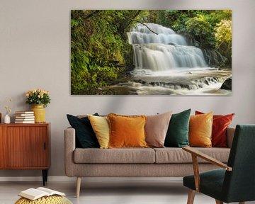 Parakaunui Falls, Nieuw-Zeeland van Markus Lange