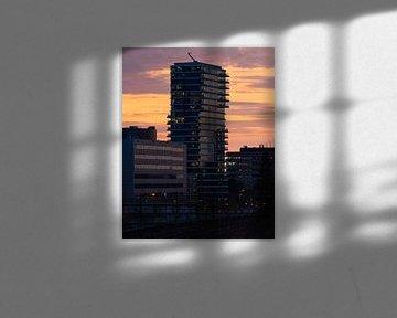 Sonnenuntergang bei Hartje New York von Mitchell van Eijk