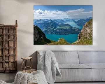Landschap, Zwitserland van Edwin Kooren