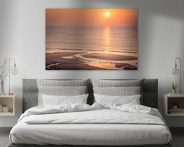 Sonnenuntergang am Strand von Kampen, Sylt von Christian Müringer