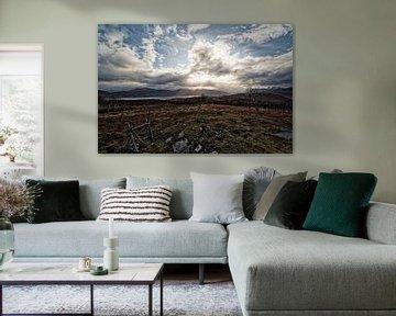 landschap met wolken van Glenn Vlekke