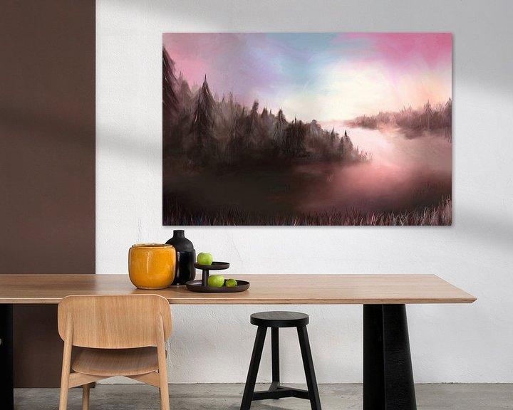 Beispiel: Landschaft an einem kalten Morgen von Tanja Udelhofen