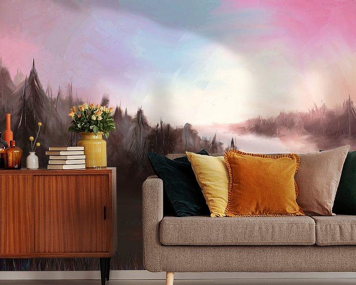 Beispiel fototapete: Landschaft an einem kalten Morgen von Tanja Udelhofen
