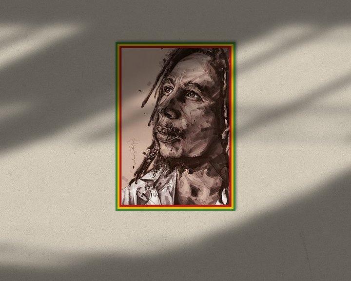Beispiel: Bob-Marley-Gemälde von Jos Hoppenbrouwers