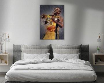 Kobe Bryant olieverf portret van Bert Hooijer
