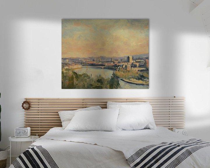 Beispiel: Panorama Ostufer Maastricht von Nop Briex