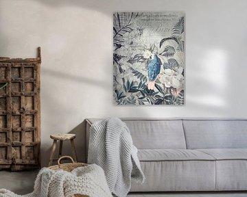Tropen-Nostalgie mit Papagei von Andrea Haase