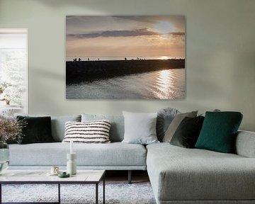 Hafenkopf im Hafen von Scheveningen, Den Haag von Sjoerd van der Hucht