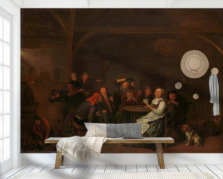 Beispiel fototapete: Betrug beim Kartenspiel, Jan Miense Molenaer