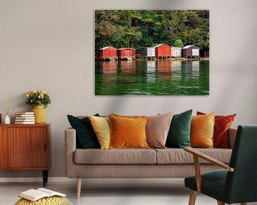 Die Bootshäuser von Stewart Island, Neuseeland von Rik Pijnenburg