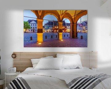 Münsterplatz in Freiburg im Breisgau von Werner Dieterich
