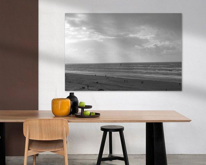 Sfeerimpressie: strand zwart wit van Heleen de Silva