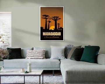 Vintage Poster, Allée des Baobabs, Madagaskar von Discover Dutch Nature