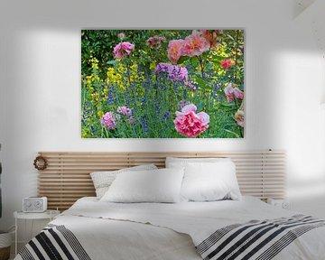 Rosenbeet mit Lavendel von Maximilian Prinz Hohenlohe