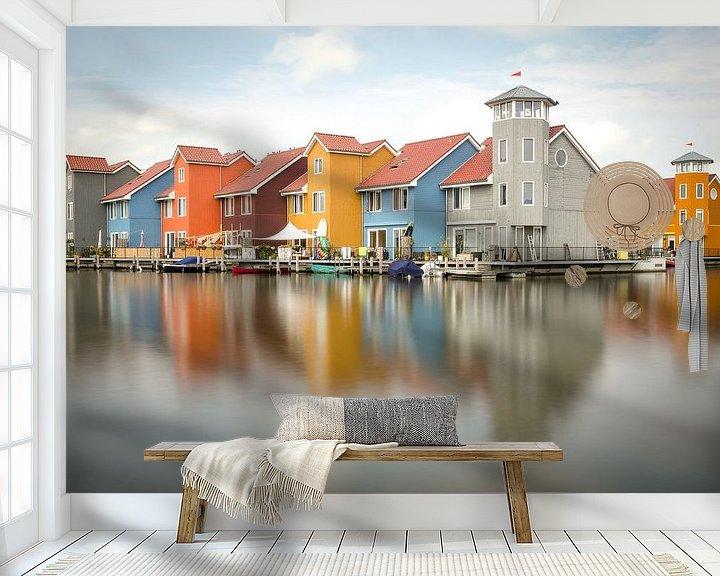 Sfeerimpressie behang: Reitdiephaven Groningen van Mark Bolijn