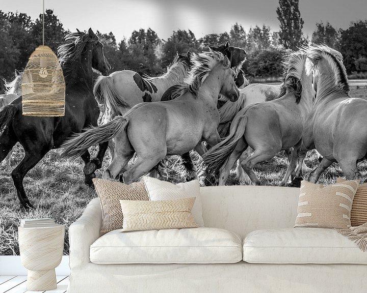 Sfeerimpressie behang: Paardenkracht van Natasja Claessens