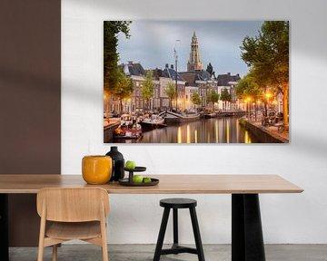 Skyline Groningen van Mark Bolijn