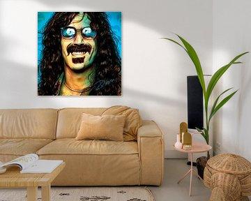 Popart kunstwerk van Frank Zappa van Martin Melis