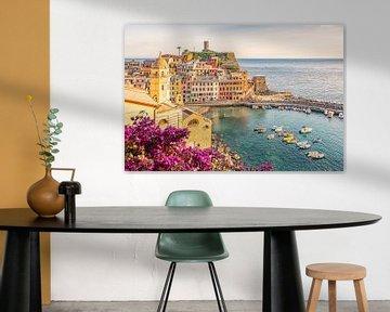 De kleuren van Vernazza van Manjik Pictures