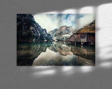 Lago di Braies van Manjik Pictures