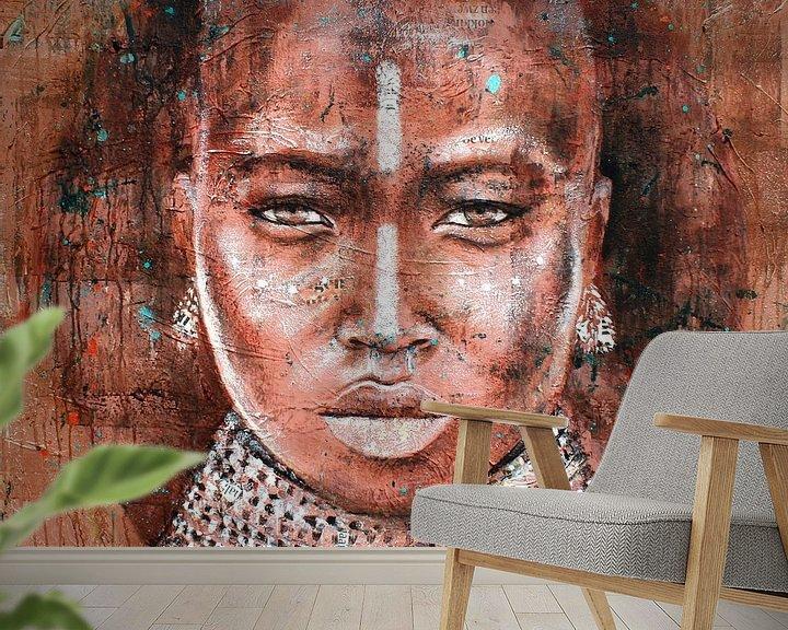 Beispiel fototapete: Stammesangehörige Frau von Atelier Paint-Ing