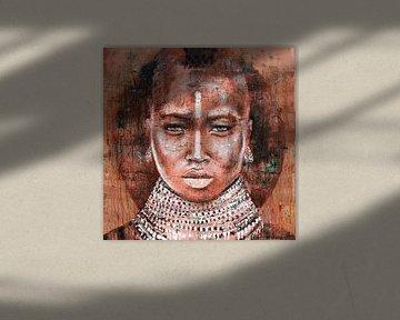 Stammesangehörige Frau von Atelier Paint-Ing