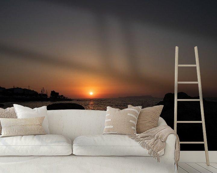 Sfeerimpressie behang: Zonsondergang van Yana Koolen