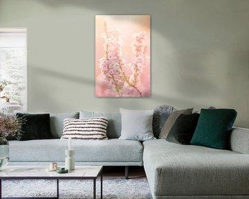 Heide in soft pastel tinten van Roosmarijn Bruijns
