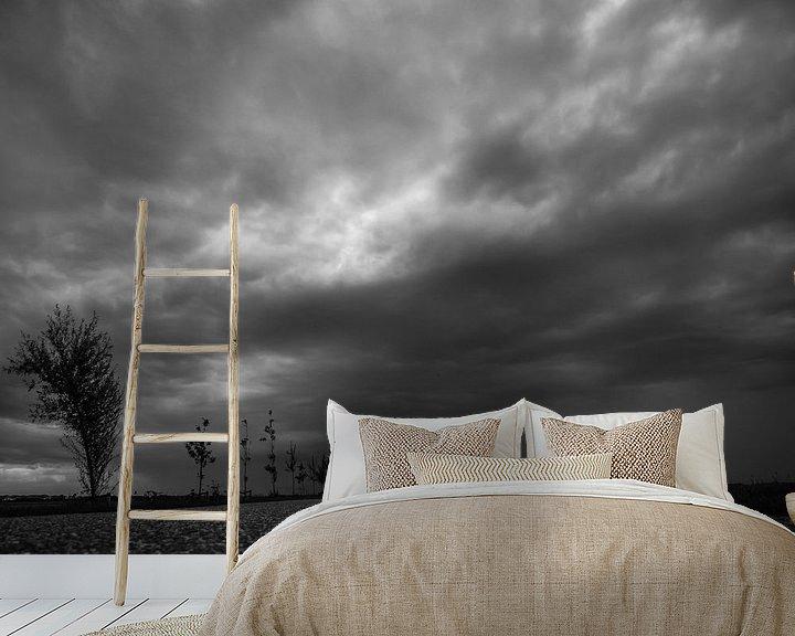 Beispiel fototapete: Dunkle Wolken von Martijn Tilroe
