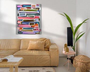 Abstracte samenstelling 1027 van Angel Estevez