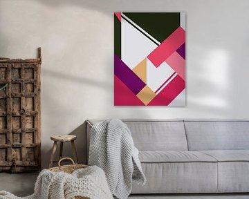 Abstracte samenstelling 1035 van Angel Estevez