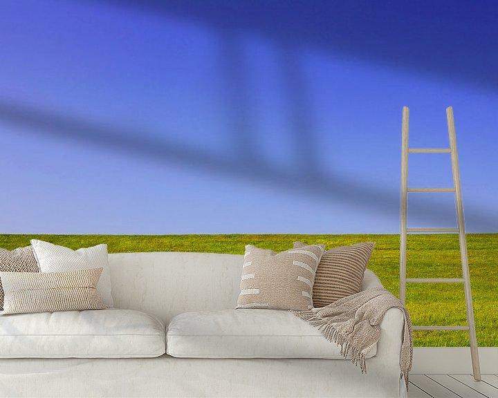 Sfeerimpressie behang: Weide en lucht van Frank Herrmann