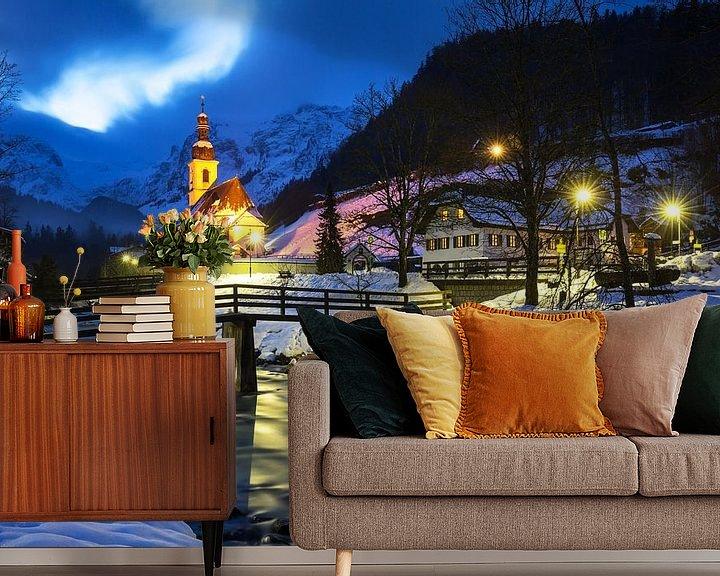Sfeerimpressie behang: Ramsau Malerwinkel (Berchtesgadener Land) van Frank Herrmann